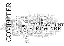 Are You Safe From Hackers Word Cloud. ARE YOU SAFE FROM HACKERS TEXT WORD CLOUD CONCEPT Royalty Free Stock Images
