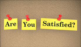 Are You Satisfied Happy Words Question Stock Images