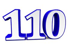 A big blue number for happy birthday. You see a big number in wihte with a blue frame vector illustration