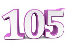 A big pink number for happy birthday. You see a big number in wihte with a pink frame Stock Photography