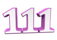 A big pink number for happy birthday. You see a big number in wihte with a pink frame Royalty Free Stock Photography