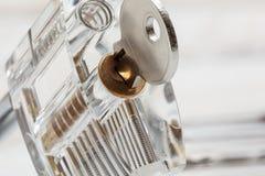 An clear padlock Royalty Free Stock Photo