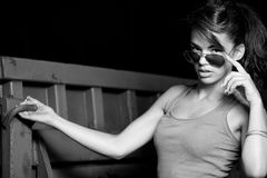 Are You Seriouse ?. Fashion Photo Of Young Woman Stock Photography