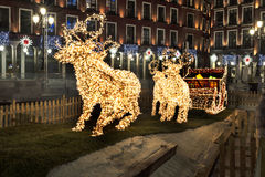 You shine of navidad. Navidad seem Christmas in Valladolid; Spain Stock Photos