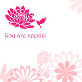 You are special. Greeting card for you are special Stock Photography