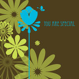 You are special. Greeting card Royalty Free Stock Image