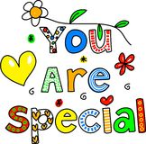 You are special. Decorative text message isolated on white Royalty Free Stock Photo
