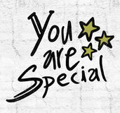 You are special message. Design Royalty Free Stock Images