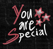 You are special symbol. Creative design of you are special message Royalty Free Stock Image