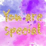 You are special to me - romantic quote. For valentines day card or save the date card. Inspirational vector typography Royalty Free Stock Photo