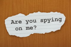 Are You Spying on me? Royalty Free Stock Image