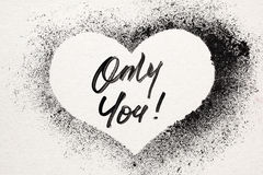 Only you - stenciled heart Royalty Free Stock Image
