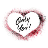 Only You - Stenciled heart Stock Photography