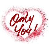 Only You - stenciled heart Stock Photo