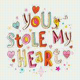 You stole my heart. Unique hand lettering Royalty Free Stock Photo