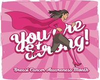 You are Strong! Breast cancer awareness month Stock Photography