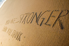 You are stronger than you think. Creative motivation concept. Royalty Free Stock Image