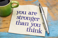 You are stronger than you think Royalty Free Stock Images