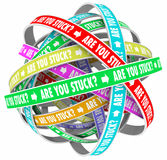 Are You Stuck Rut Lost Going Circles Words Stock Photo