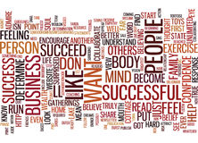 Are You Successful Word Cloud Concept Stock Photo