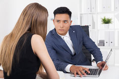 Are you sure you are not our competitor's spy? Royalty Free Stock Photo