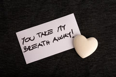 You Take My Breath Away Royalty Free Stock Images