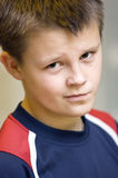 You talking to me?. A teenage boy portrait, an are you talking to me expression over his face Stock Images