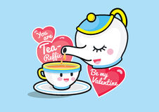 You are Tea-reffic, Be my Valentine Royalty Free Stock Images