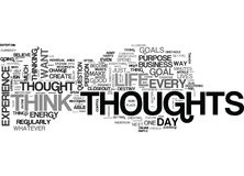Before You Think That Next Thought Word Cloud Royalty Free Stock Images