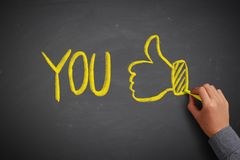 You and Thumb up royalty free stock photos