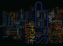 Are You Tired Of Insomnia Word Cloud Concept Royalty Free Stock Images