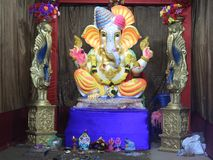 Load Ganesh wallpaper for your phone royalty free stock photos