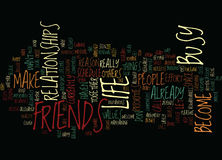 Are You Too Busy For Friends Word Cloud Concept. Are You Too Busy For Friends Text Background Word Cloud Concept Stock Images