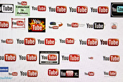 You Tube logo Stock Images