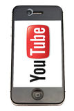 You Tube logo and iPhone Stock Images