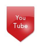 You tube. Social media you tube on white Royalty Free Stock Photos
