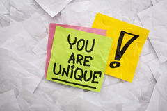 You are unique reminder royalty free stock photo