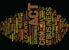 Are You Up For The Act In Your Crm System Word Cloud Concept Stock Photo
