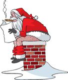 You've been bad Santa royalty free stock images