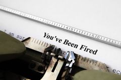 You've been fired. Close up of You've been fired Royalty Free Stock Photos