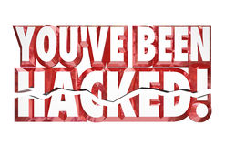 You've Been Hacked 3d Words Identity Theft Online Security Crime. You've Been Hacked words in red 3d letters to warn you that your security or safety has been Stock Images