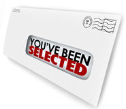 You've Been Selected Words Envelope Letter Official Notification Stock Images