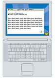 You've got a mail. Portable computer with modifiable email window Stock Images