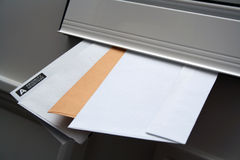 You've Got Mail. Letters arriving Stock Images