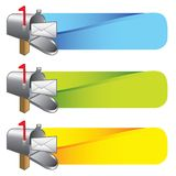 You've got mail colored tabs Royalty Free Stock Photos