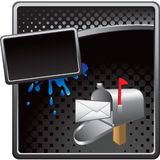 You've got mail icon on black halftone ad Royalty Free Stock Image