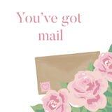 You`ve got Mail Romantic Illustration Stock Photos