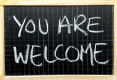 You Are Welcome Message Stock Photography