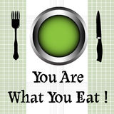 You are what you eat Royalty Free Stock Photography