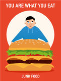 You are what you eat illustration, junk food,  Stock Photo